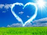 heart in sky